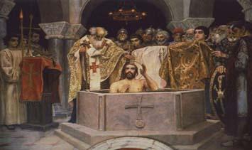 Transición de la fe pagana a la fe cristiana en Rusia