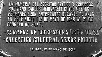 Carlos Medinaceli y su primer texto crítico